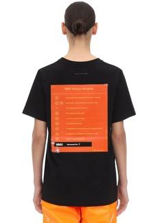 Maison Margiela Rubber Logo Print Cotton Jersey T-shirt