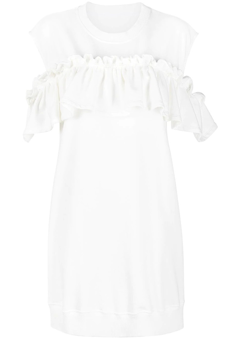 Maison Margiela ruffle-embellished shift dress