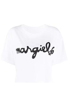 Maison Margiela cropped logo print T-shirt