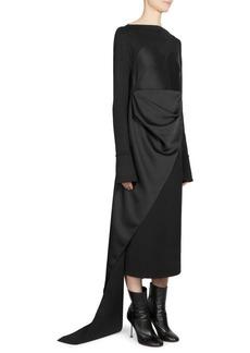 Maison Margiela Satin Bustier Asymmetric Midi Dress