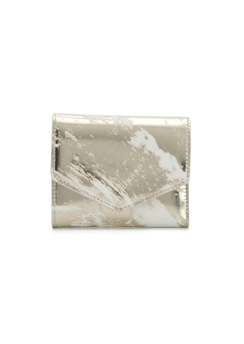 Maison Margiela scratched effect metallic small wallet