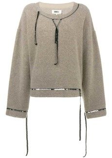 Maison Margiela sequin trimmed fleece jumper