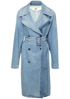 Maison Margiela Shadow Cotton Denim Trench Coat