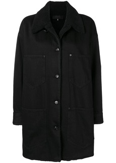 Maison Margiela shearling collar denim coat