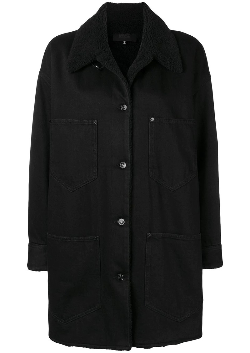 Maison Margiela shearling collar denim coat