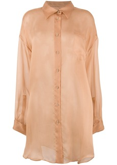Maison Margiela sheer button shirt