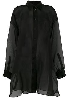 Maison Margiela sheer button shirt