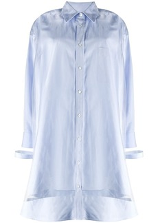 Maison Margiela sheer-overlay shirt-dress