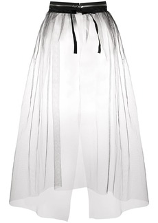 Maison Margiela sheer zip-detail overskirt