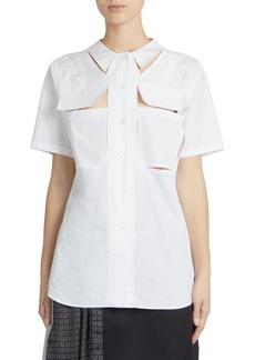 Maison Margiela Short Sleeve Décortiqué Shirt