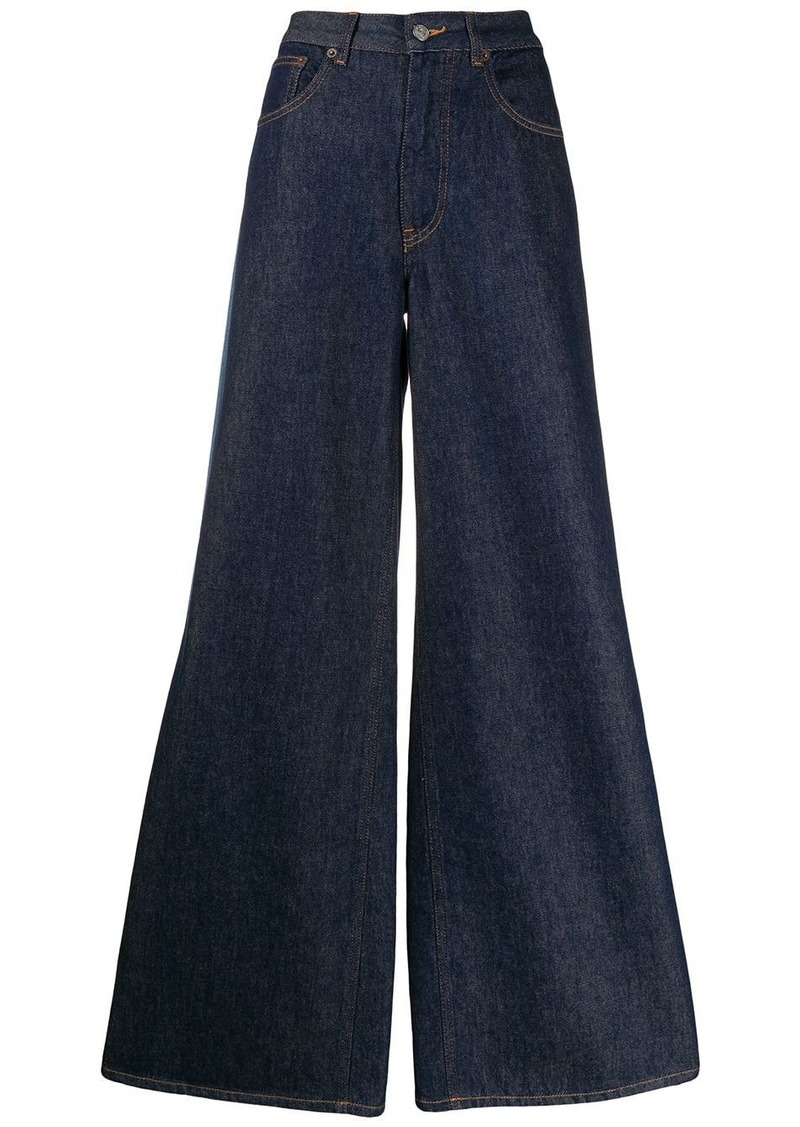 Maison Margiela side tape wide-leg jeans
