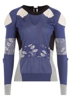 Maison Margiela Silk Patchwork Pullover-Cardigan