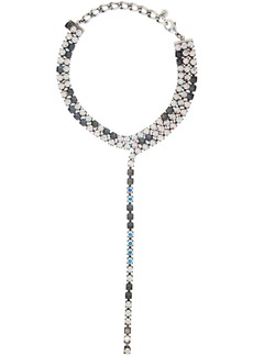 Maison Margiela Silver Earring Crystal Choker Necklace