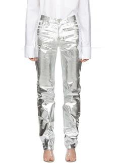 Maison Margiela Silver Foil Effect Jeans