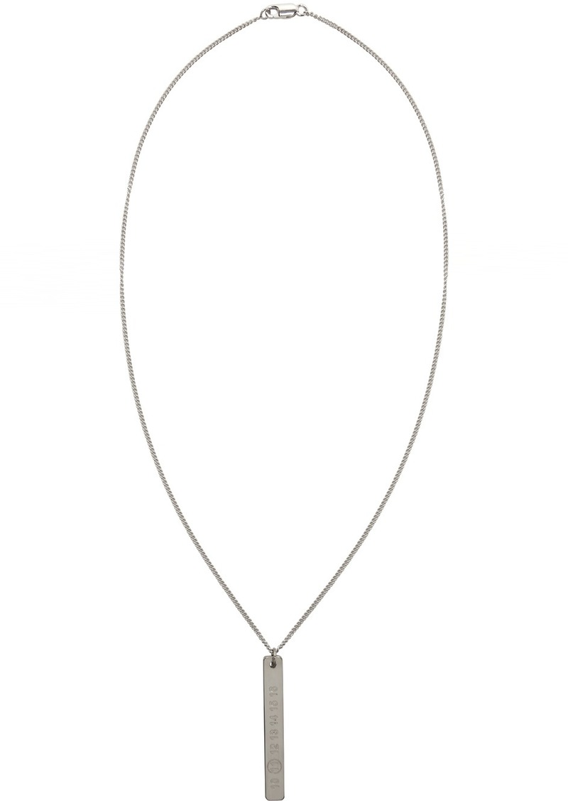 Maison Margiela Silver Logo Necklace