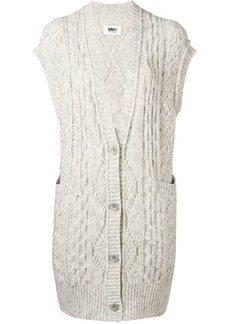 Maison Margiela sleeveless knit cardigan