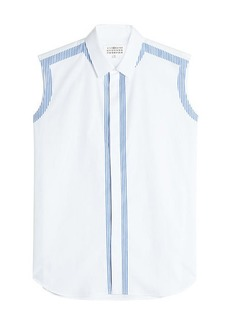Maison Margiela Sleveless Cotton Shirt