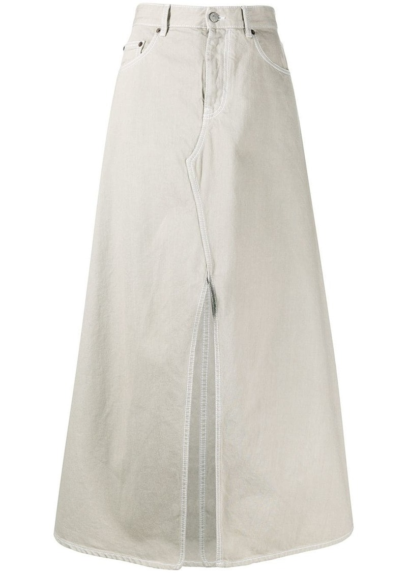 Maison Margiela slit front denim skirt