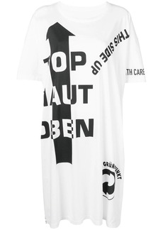 Maison Margiela slogan detail T-shirt dress