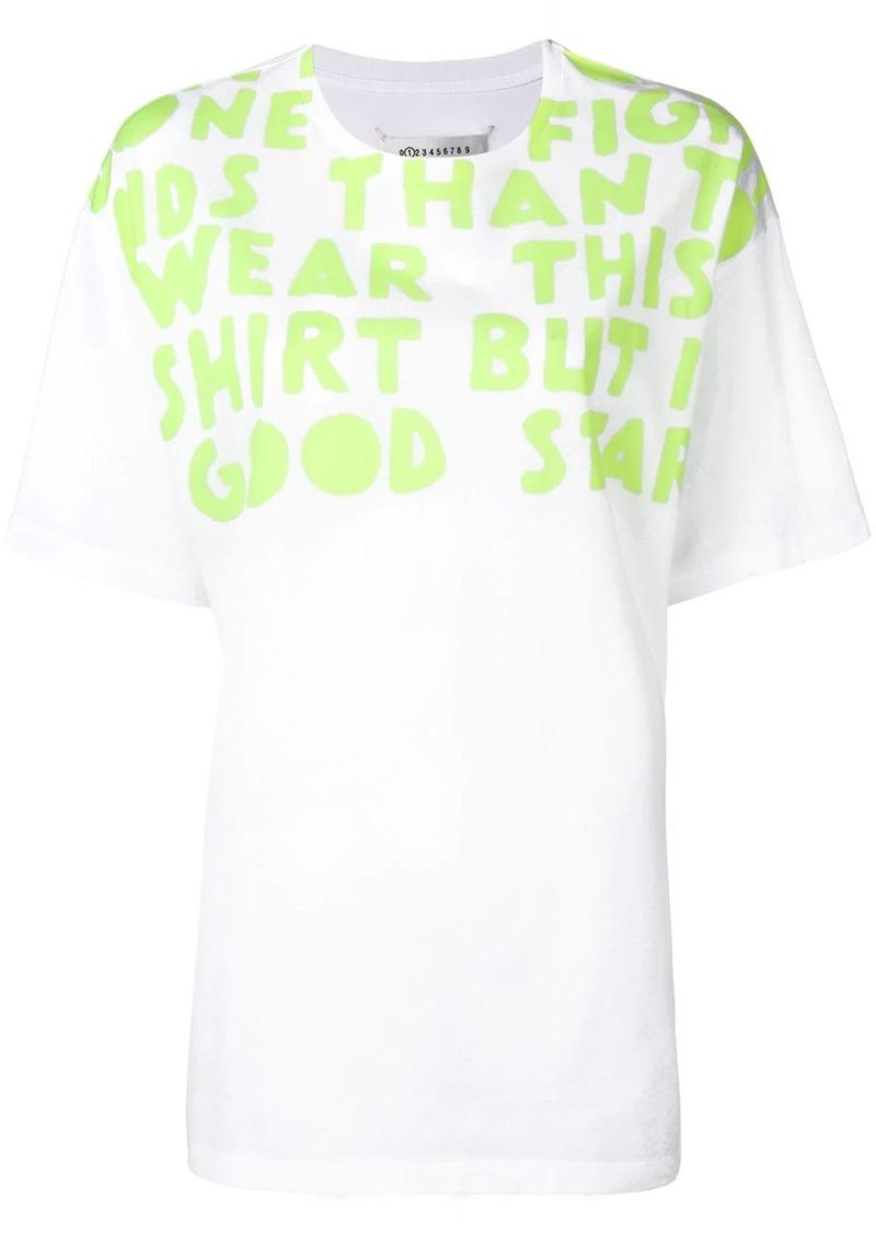 Maison Margiela slogan-print T-shirt