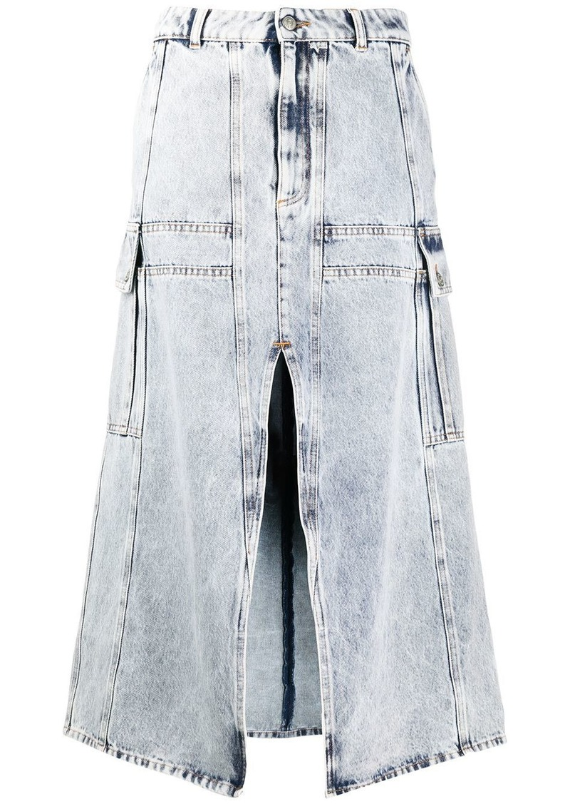 Maison Margiela split hem denim skirt