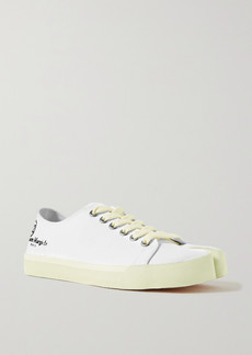 Maison Margiela Split-toe Logo-print Canvas Sneakers