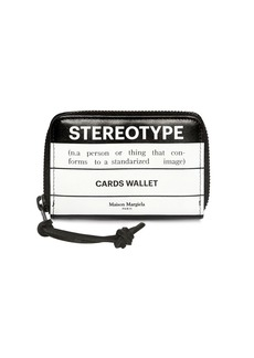 Maison Margiela Stereotype Leather Zip Card Wallet