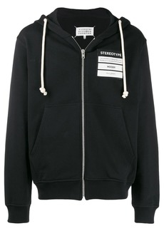 Maison Margiela Stereotype zip front hoodie