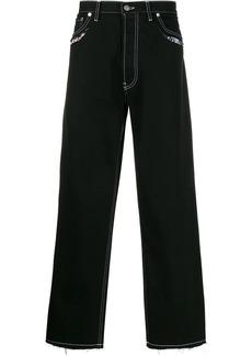 Maison Margiela stitch trim straight-leg jeans