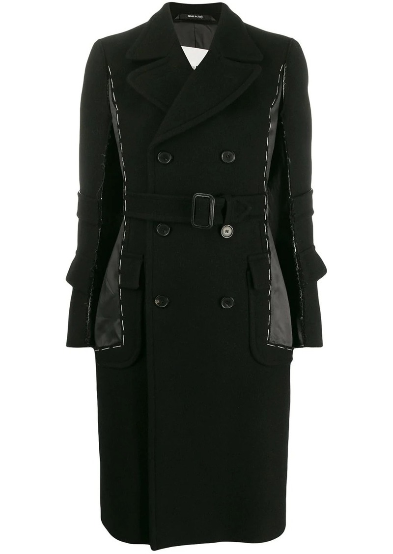 Maison Margiela stitched double breasted coat