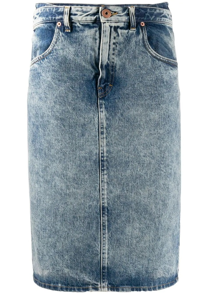 Maison Margiela straight denim midi-skirt