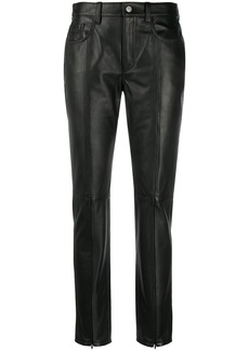 Maison Margiela straight-leg leather trousers