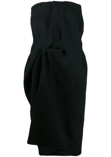 Maison Margiela strapless draped midi dress