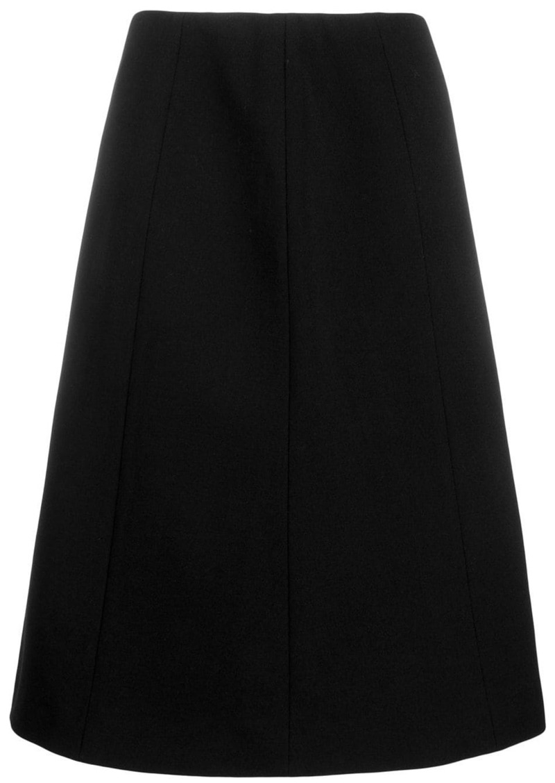 Maison Margiela stretch fit flared A-line skirt