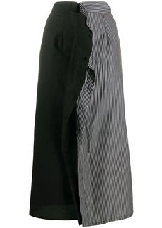 Maison Margiela stripe panel mid-length skirt