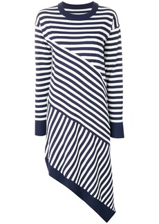 Maison Margiela striped asymmetric knitted dress