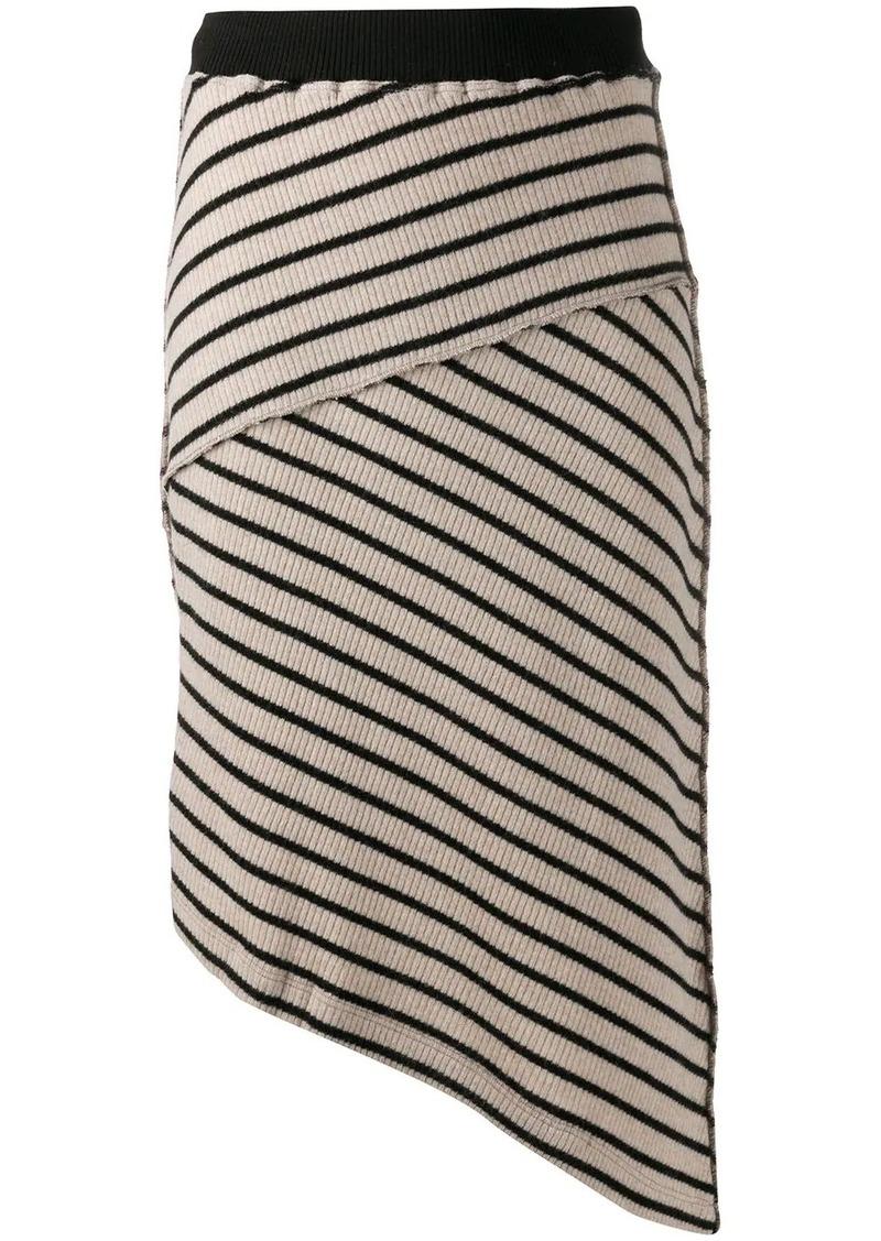 Maison Margiela striped asymmetric skirt