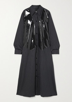 Maison Margiela Striped Coated Cotton-poplin Maxi Shirt Dress