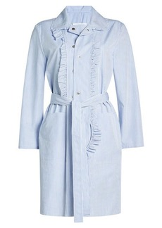 Maison Margiela Striped Cotton Shirt Dress
