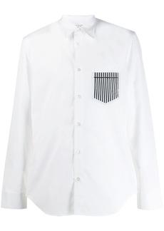 Maison Margiela striped-pocket shirt