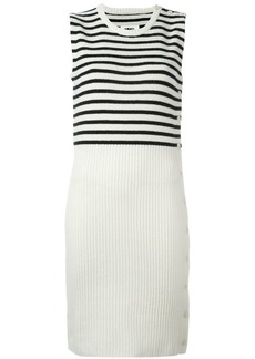 Maison Margiela striped ribbed dress