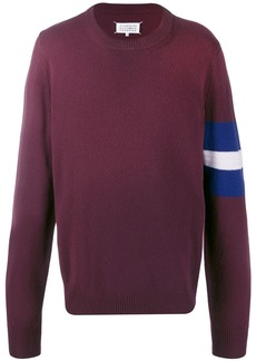 Maison Margiela striped-sleeve jumper