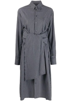 Maison Margiela striped tie waist midi dress