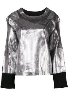 Maison Margiela structured metallic sweater