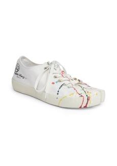 Maison Margiela Tabby Paint-Splattered Sneakers