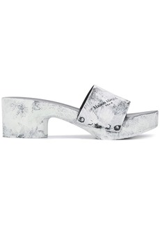 Maison Margiela Tabi painted clogs