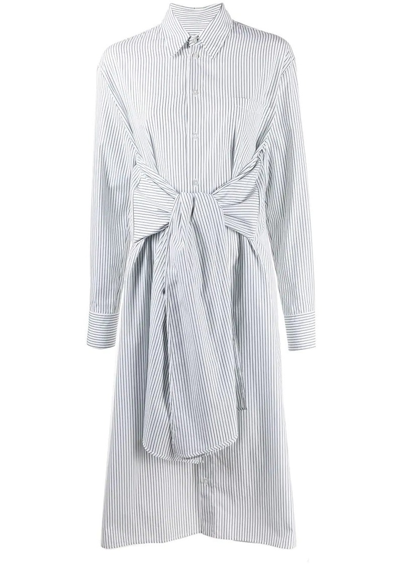 Maison Margiela tie waist shirt dress