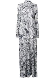 Maison Margiela Tinfoil print dress