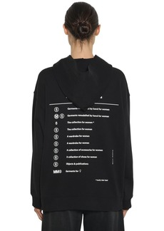 Maison Margiela Totally Label Print Cotton Hoodie