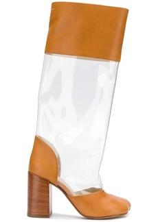 Maison Margiela transparent panel boots